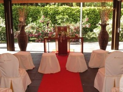 Offer the possibility of a civil wedding tents simulated in ...